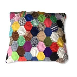 Vintage Patchwork Quilt Pillow.